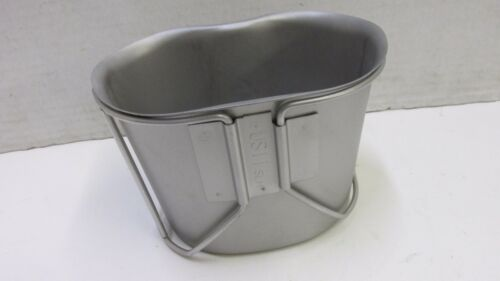 New In Wrap US GI Canteen Cup w/ Wire Handle 2011 Dated Stainless Steel Military