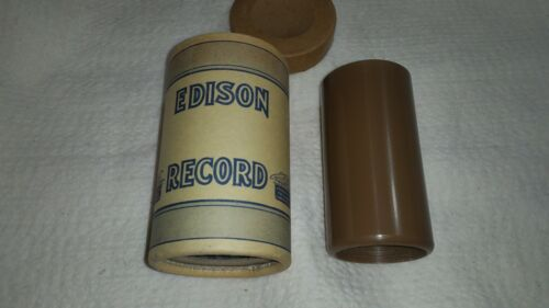 2 minute BROWN Wax Demonstration cylinder  I  AM THE EDISON PHONOGRAPH