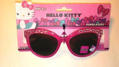 Hello Kitty Girls Sunglasses 100% UV Protection Kids Children NEW Rhinestone