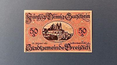 Rupertus 25.18 Notgeldschein Stadt Baden-Baden 50 Pfg 10.2.1921