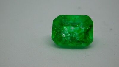 7.45 Ct Natural GREEN EMERALD -EMERALD Shaped Colombian Emerald with cert
