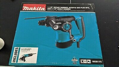 Makita Hr2811fx 1-18 Sds-plus Rotary Hammer W 4-12 Angle Grinder New