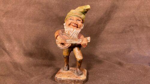 Antique Black Forest Wooden Figural Gnome Elf Hand Carved