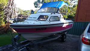 Seaferar marine pro 4.85m (16.5ft) half cabin boat registered Waterfall Sutherland Area Preview