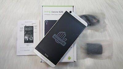 New INBOX HTC Desire 626 - 16GB Marine White (AT&T) Smartphone. GSM UNLOCKED