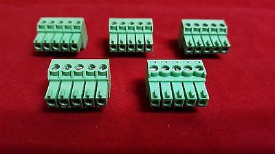 5X Crestron / AMX / Extron / Polycom 5-pin 3mm Phoenix Terminal Block Connector