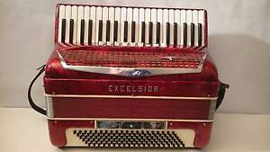 piano accordion excelsior 120 bass emerald red made in italy Epping Whittlesea Area Preview