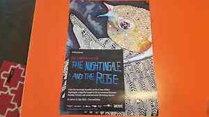 Del Kathyn Barton The Nightingale and the Rose Exhibition Poster Yarraville Maribyrnong Area Preview