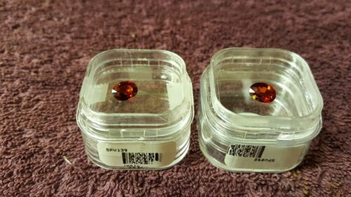 JTV 8x6mm Oval Cut Red Spessartite Garnet x2 VVS Clarity 3.29 tcw (Clean Stones)