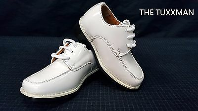 New Infant Baby Shoe Size 4 Ivory Formal Wedding Tuxedo Boys Shoes Ring Bearer ](Ring Bearer Shoes)