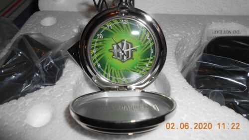 FRANKLIN MINT Harley-Davidson Custom Chrome Pocket Watch- Voltage B11F149 NIB