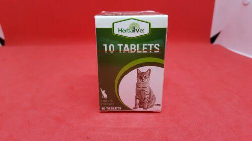 HerbalVet Cat Cleanse Dewormer Alternative 10 Tablets NEW SEALED BOX