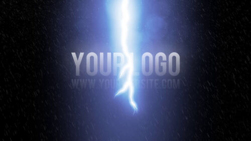 I will reveal your logo with a THUNDER rainy storm video intro