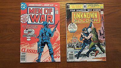 MEN OF WAR # 1 & STAR SPANGLED WAR STORIES # 201 UNKNOWN SOLDIER DC WAR COMICS