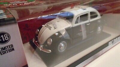 VW COX KAEFER BEETLE KEVER GREENLIGHT 1/18 POLICIA CIVIL SAO PAULO