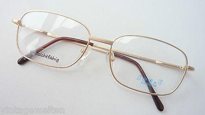 Titan Brillen Brillengestell Männer gold nickelfrei leicht Federbügel Grösse L