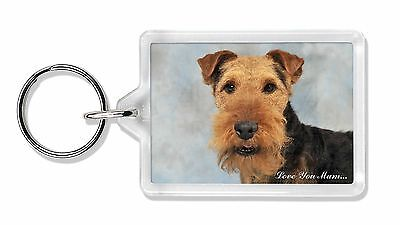 Welsh Terrier Dog 'Love You Mum' Photo Keyring Animal Gift, AD-WT1lymK