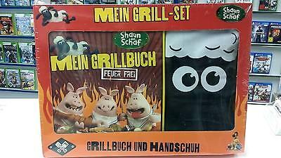 Shaun das Schaf Grillset mit Grillbuch +  Grillhandschuh - NEU + OVP