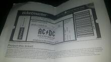 ACDC Tickets x 3 - Melbourne City North Canberra Preview