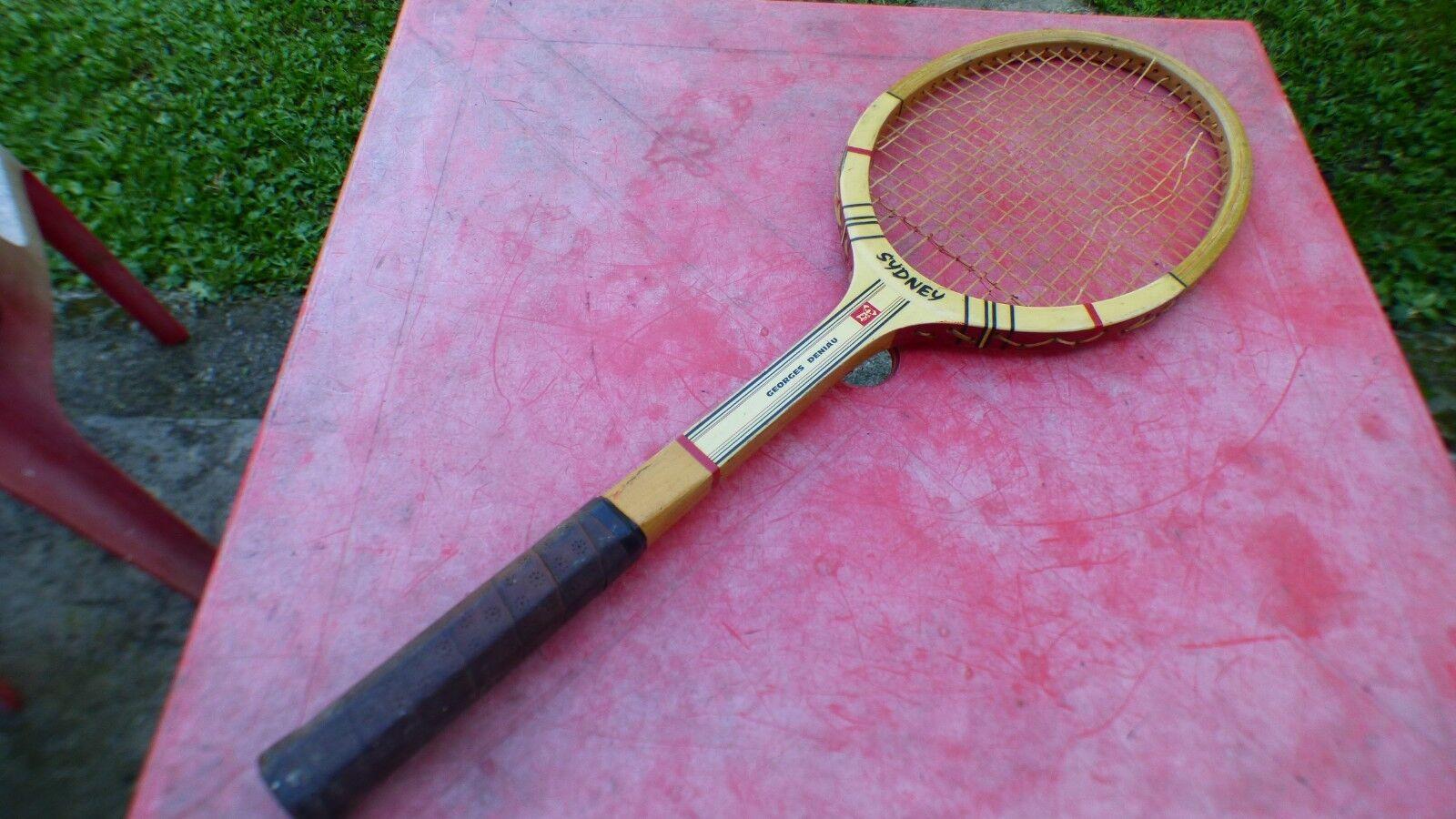tennis racket vintage Sydney Georges Deniau wood wooden