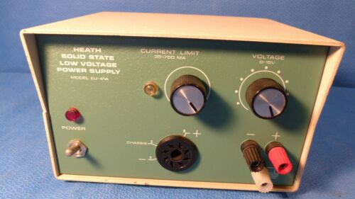 HEATH SOLID STATE LOW VOLTAGE POWER SUPPLY #EU-41A --0 TO 15 VOLT