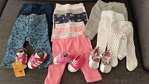 Baby Girl 00 pant bottoms and shoe bundle Aldinga Beach Morphett Vale Area Preview