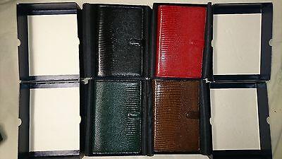 New Filofax Lizard Original Vintage Box Personal Organizer Green Brown Black