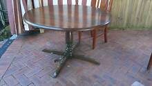 Traditional Round Dining Table & Chairs Homebush Strathfield Area Preview