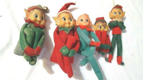 Vintage Knee Huggers Elf on Shelf  Pixies Pointed Ears Japan Lot