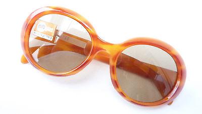 60er Jahre Vintage Sonnenbrille für Damen Echtenia mit Echtglas Hippie Gr. M