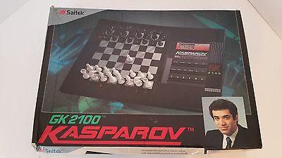 RARE Kasparov GK2100 Electronic Computer Chess Game by Saitek COMPLETE