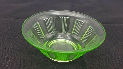 Vintage Depression Glass Berry Bowl Hazel Atlas Green Kellogg