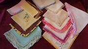 Vintage Embroidered Handkerchiefs Lot