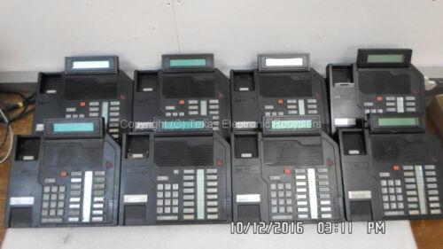 LOT OF 8 - Nortel Meridian NT9K16AC03 M2616 Black Business Phone, no accessories