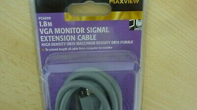 VGA MONITOR SIGNAL EXTENTION CABLE 1.8 M BY MAXVIEW - 624