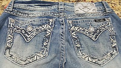 NWT Womens Miss Me Jeans Signature Straight low rise stretch size 25