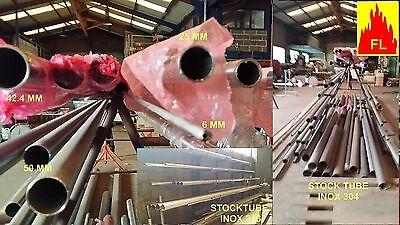 tube inox 304 l tout diametre jusqu'à 50 mm / grain 220 et balcon