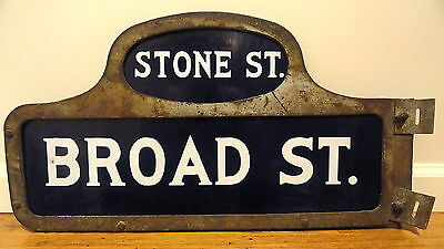 New York Stock Exchange Curb Market Broker NYSE Wall BROAD STREET Porcelain Sign