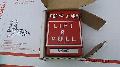 Simplex Grinnell 960681 Manual Station Pull Down Fire Alarm Box Wglass Rod