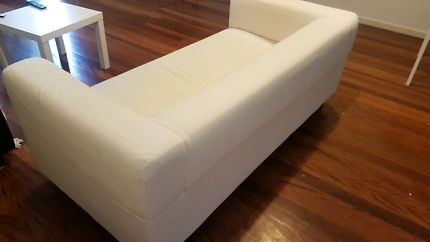 White Couch with cover