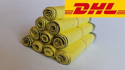 10 Rollen Gelber Sack Gelbe Säcke Müllbeutel Müllsack mit Zugband Rolle Rollen Gelbe 10