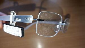 Silhouette TITAN Brillenfassung 6680 6050 Silber Transparent Brille eyeglasses