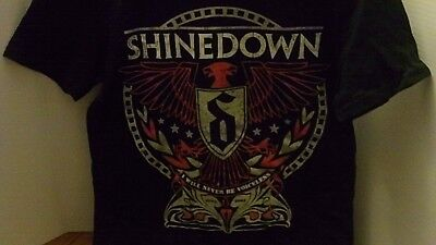 SHINEDOWN I Will Never Be Voiceless Concert Tour T Shirt Adult SMALL NEW w/o Tag