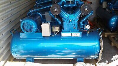 Industrial Air Compressor 10 Hp 80 Gal Tank 12.5 Bar 145max Psi 3 Phase230 Volt