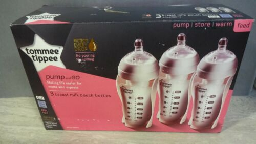 Tommee Tippee Pump And Go 3 Breast Milk Pouch Bottles (RS682)