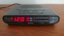 Sony Dream Machine Dual Alarm AM/FM Alarm Clock Radio ICF-C370 Black