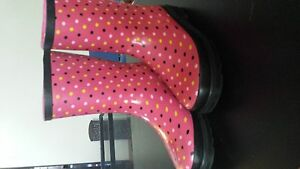Girls size 4 rubber boots