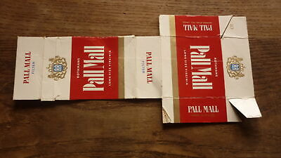 OLD NEW ZEALAND CIGARETTE PACKET LABEL, PALL MALL WHITE (Pall Mall Brands)