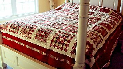 Wedding Gift- Handmade Queen Size Quilt- Unique Gift for Her- Anniversary Gift for sale  Shipping to India