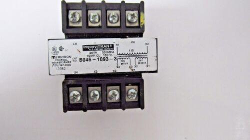 IMPERVITRAN MICRON CONTROL TRANSFORMER B046-1093-3